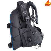 backmount horseshoe shape double bladder 35lb technical diving bcds